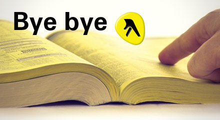 Bye Bye Yellow Pages