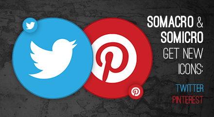 Somacro and Somicro: new Twitter and Pinterest icons